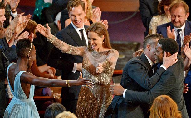 Lupita Nyong'o, Angelina Jolie, Brad Pitt, Chiwetel Ejiofor
